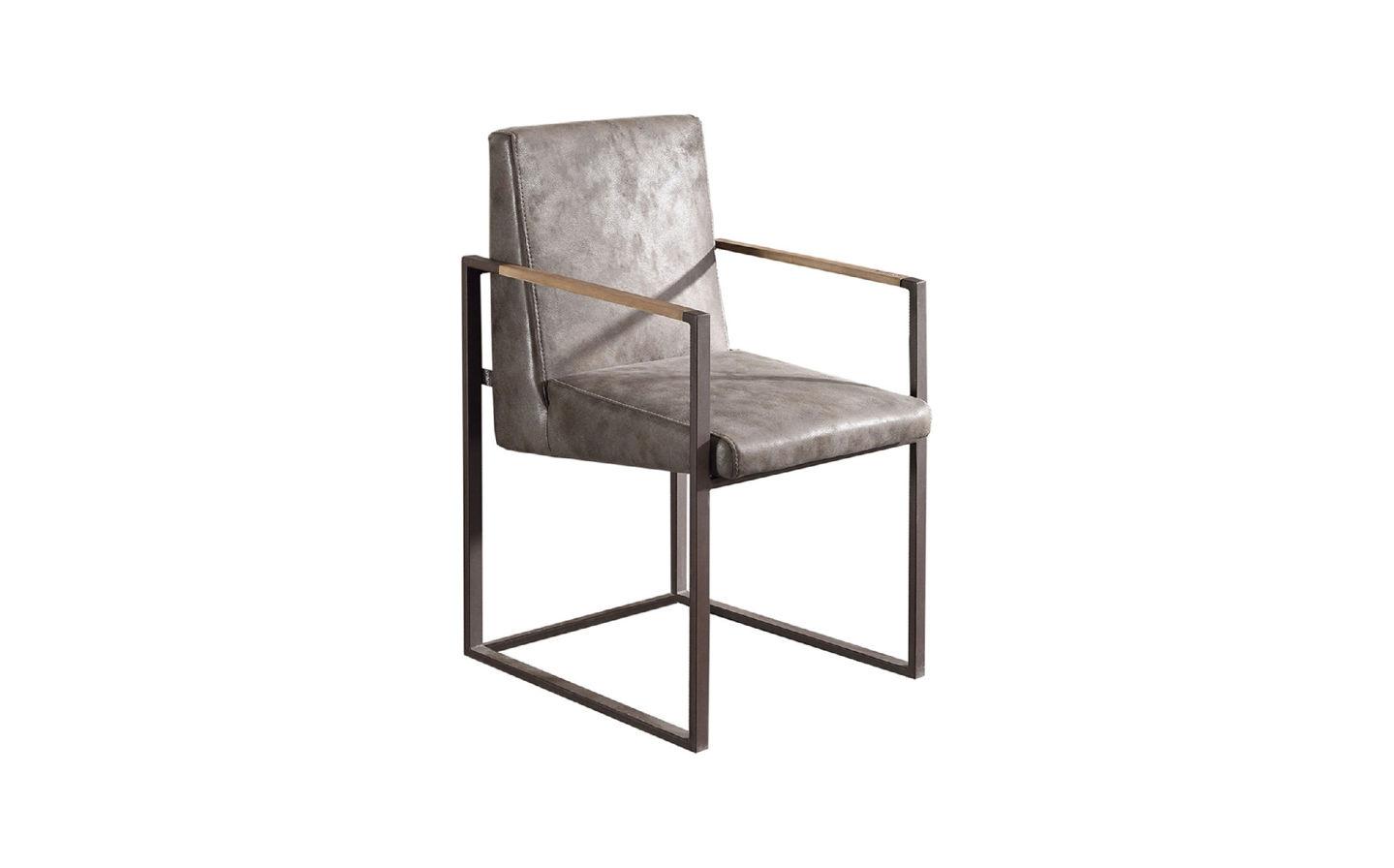 Brooklyn Sandalye Metal Luxus Antrasıt