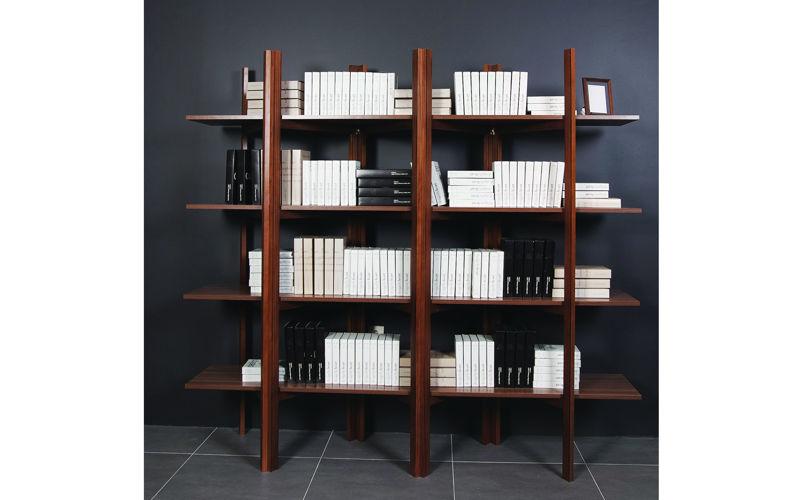 Akordeon Kitaplık Ceviz